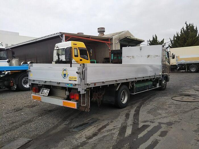 日野 レンジャー 中型 平ボディ アルミブロック ベッド|トラック 右後画像 リトラス掲載