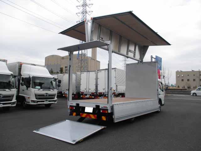 三菱 キャンター 小型 ウイング パワーゲート TPG-FEB80|フロントガラス トラック 画像 トラック王国掲載