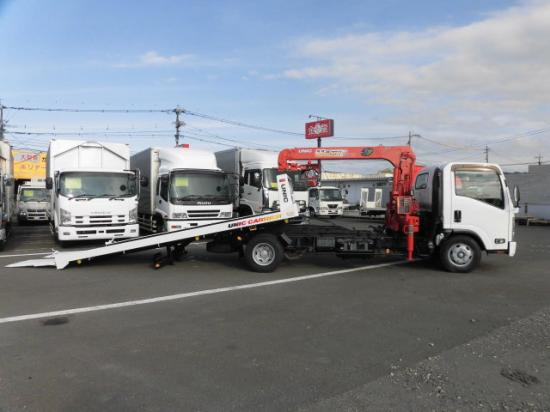 いすゞ エルフ 小型 車輌重機運搬 3段クレーン ラジコン|画像4