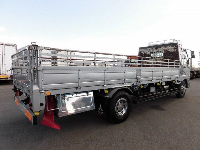 三菱 ファイター 中型 平ボディ 床鉄板 ベッド|トラック 右後画像 リトラス掲載