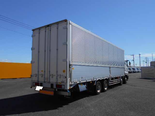 三菱 スーパーグレート 大型 ウイング エアサス ベッド|トラック 右後画像 リトラス掲載