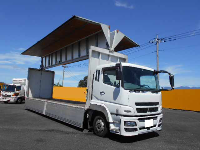 三菱 スーパーグレート 大型 ウイング エアサス ベッド|駆動方式 8x4 トラック 画像 リトラス掲載