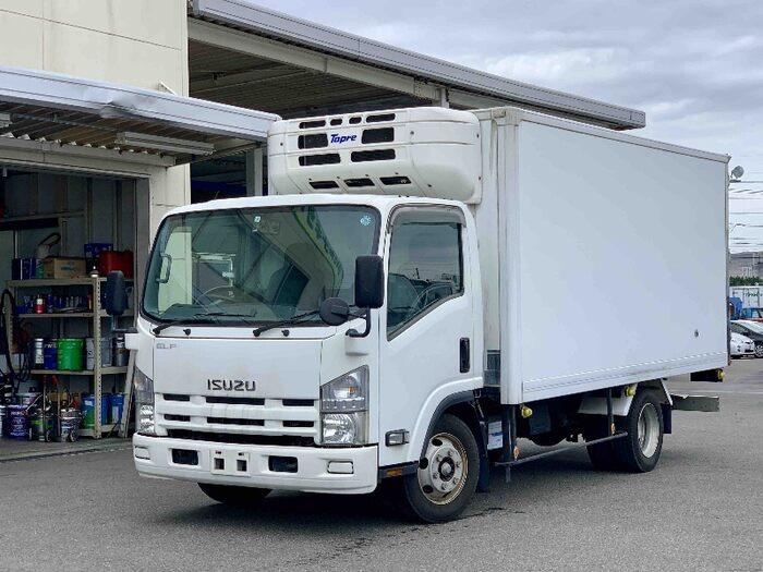 いすゞ エルフ 小型 冷凍冷蔵 低温 床アルミ|トラック 左前画像 トラックバンク掲載