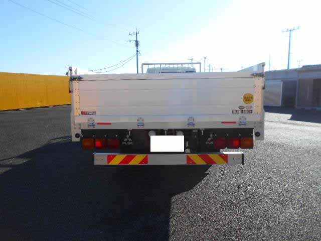 三菱 ファイター 中型 平ボディ 床鉄板 アルミブロック|トラック 背面・荷台画像 トラック市掲載
