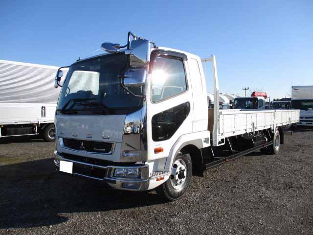 三菱 ファイター 中型 平ボディ ベッド 2KG-FK62F|トラック 左前画像 トラックバンク掲載