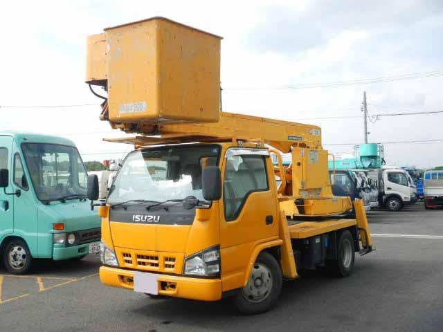中古 高所・建柱車小型(2トン・3トン) いすゞエルフ トラック H18 PB-NKR81N