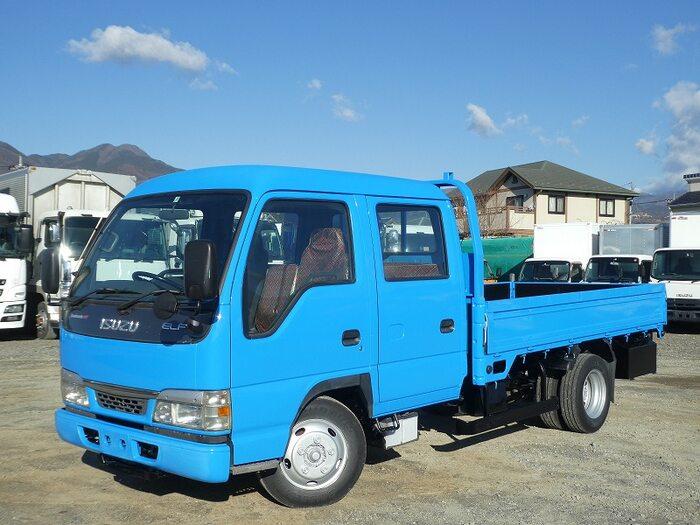 中古 平ボディ小型 いすゞエルフ トラック H15 KR-NKR81LAR