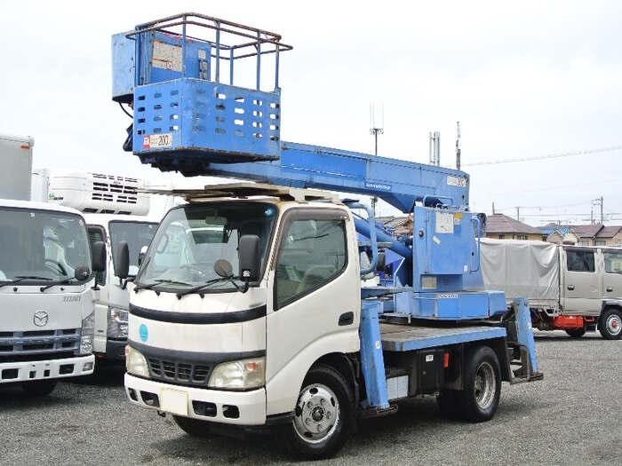 日野 デュトロ 小型 高所・建柱車 高所作業車 PB-XZU301E 画像1