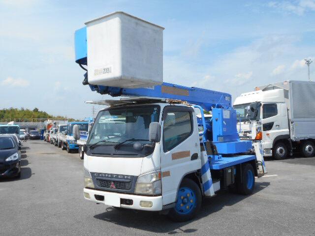 三菱 キャンター 小型 高所・建柱車 高所作業車 KK-FE73EB|画像1