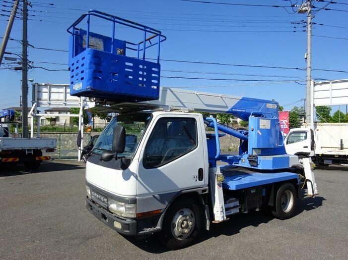 三菱 キャンター 小型 高所・建柱車 高所作業車 KK-FE53EB トラック 左前画像 トラックバンク掲載
