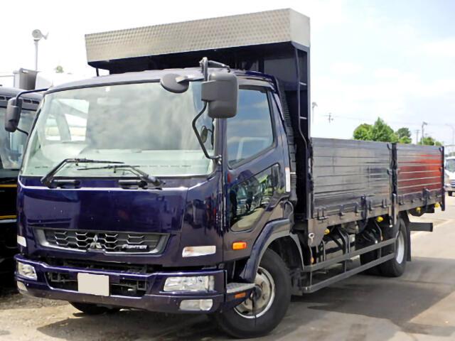 三菱 ファイター 中型 平ボディ 床鉄板 TKG-FK71F|トラック 左前画像 トラックバンク掲載