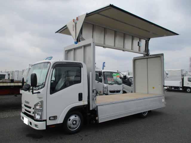 いすゞ エルフ 小型 ウイング TRG-NMR85AN H29|トラック 左前画像 トラックバンク掲載