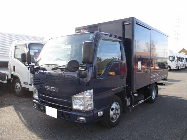 いすゞ エルフ 小型 冷凍冷蔵 低温 2室 トラック 左前画像 トラックバンク掲載