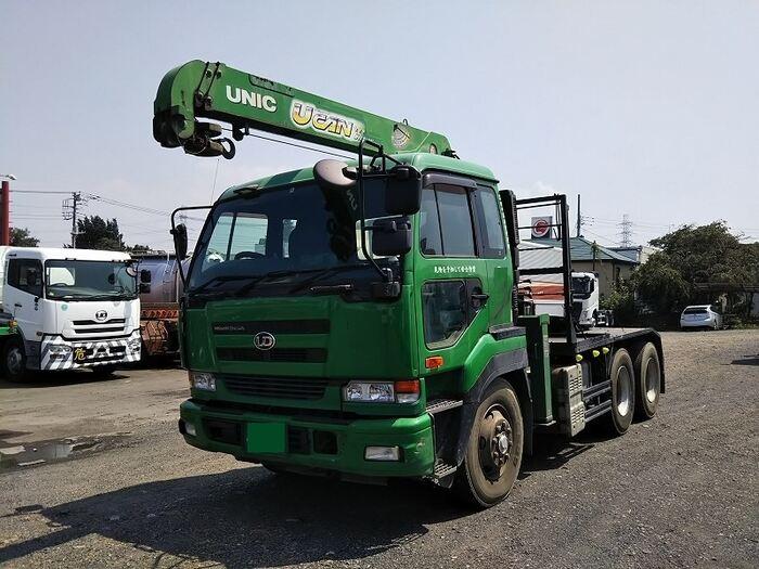 日産UD クオン 大型 トラクタ 2デフ ベッド|トラック 左前画像 トラックバンク掲載