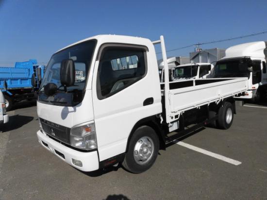 三菱 キャンター 小型 平ボディ 床鉄板 PDG-FE83DY トラック 左前画像 トラックバンク掲載