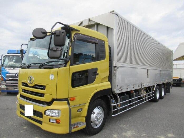 日産UD クオン 大型 ウイング エアサス ジョルダー|トラック 左前画像 トラックバンク掲載