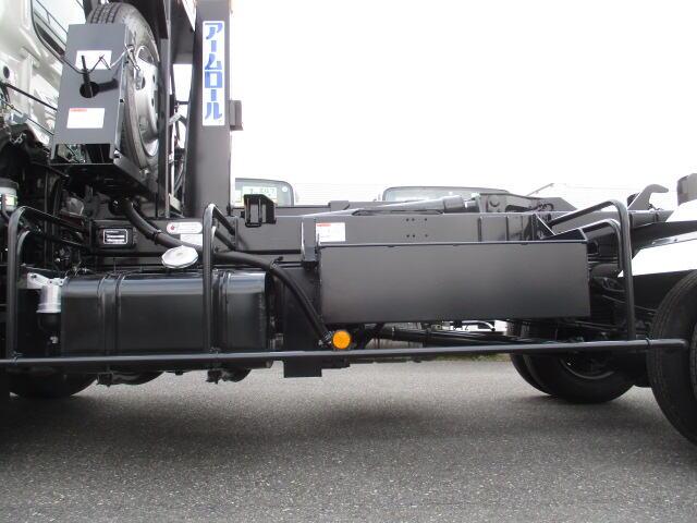 日野 レンジャー 中型 アームロール ツインホイスト 2KG-FC2ABA|コーションプレート トラック 画像 リトラス掲載
