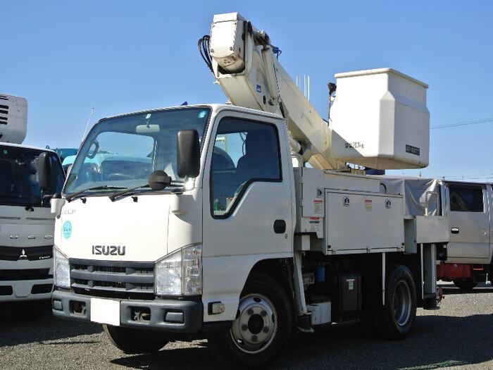 いすゞ エルフ 小型 高所・建柱車 高所作業車 TKG-NKR85AN 画像1