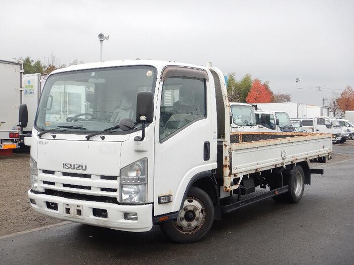 中古 平ボディ小型 いすゞエルフ トラック H25 TKG-NPR85AR