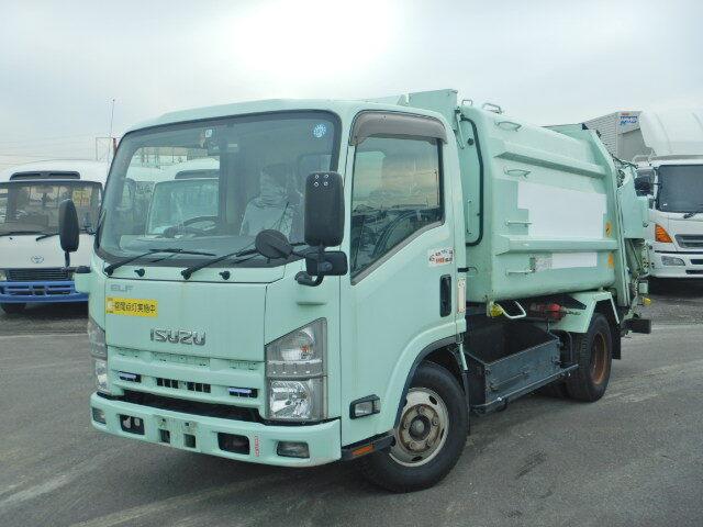 いすゞ エルフ 小型 パッカー車 プレス式 BKG-NMR85N|トラック 左前画像 トラックバンク掲載