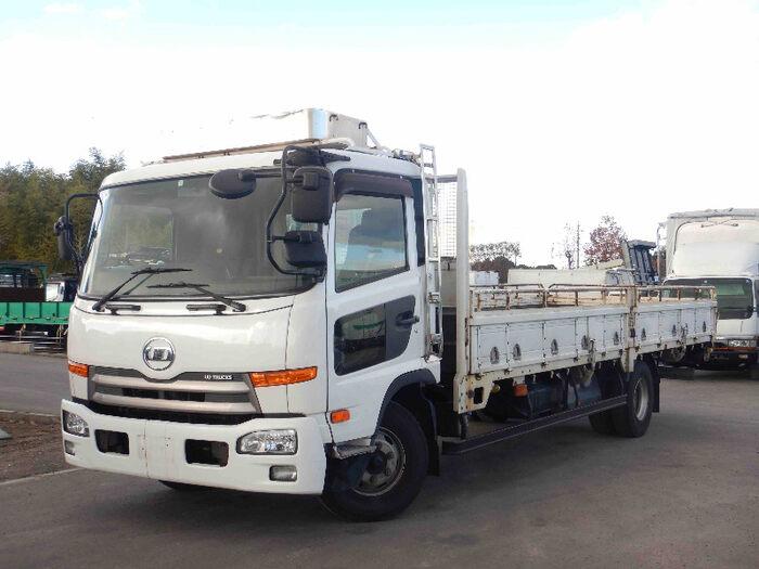 日産UD コンドル 中型 平ボディ 床鉄板 SKG-MK38L|トラック 左前画像 トラックバンク掲載