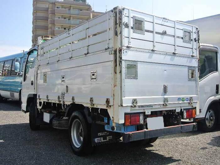 いすゞ エルフ 小型 平ボディ BKG-NJR85A H20 トラック 右後画像 リトラス掲載