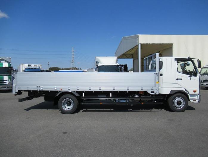 三菱 ファイター 中型 平ボディ アルミブロック ベッド|トラック 右後画像 リトラス掲載