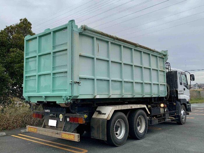 いすゞ ギガ 大型 アームロール コンテナ付き ツインホイスト|トラック 右後画像 リトラス掲載