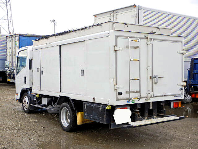 いすゞ エルフ 小型 アルミバン ボトルカー サイドドア|トラック 右後画像 リトラス掲載