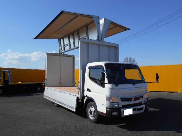三菱 キャンター 小型 ウイング 2PG-FEB80 H31/R1 トラック 右後画像 リトラス掲載