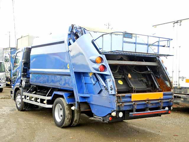 三菱 ファイター 中型 パッカー車 プレス式 KK-FK71HE|トラック 右後画像 リトラス掲載