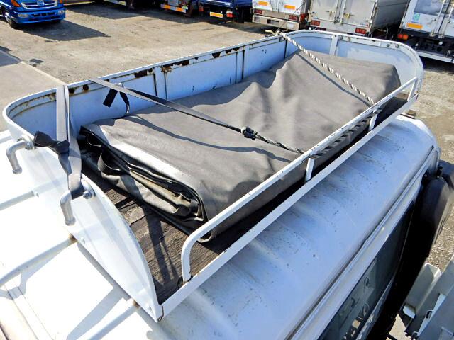 三菱 ファイター 中型 平ボディ 床鉄板 ベッド|画像14