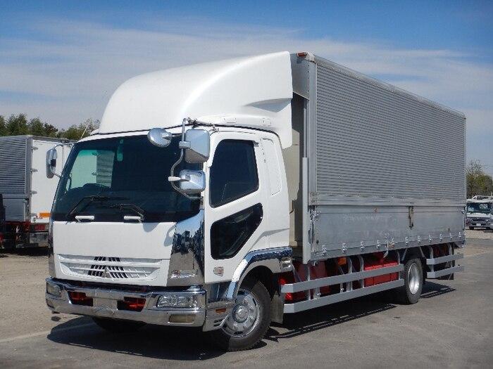 三菱 ファイター 中型 ウイング ベッド PJ-FK62FZ|トラック 左前画像 トラックバンク掲載
