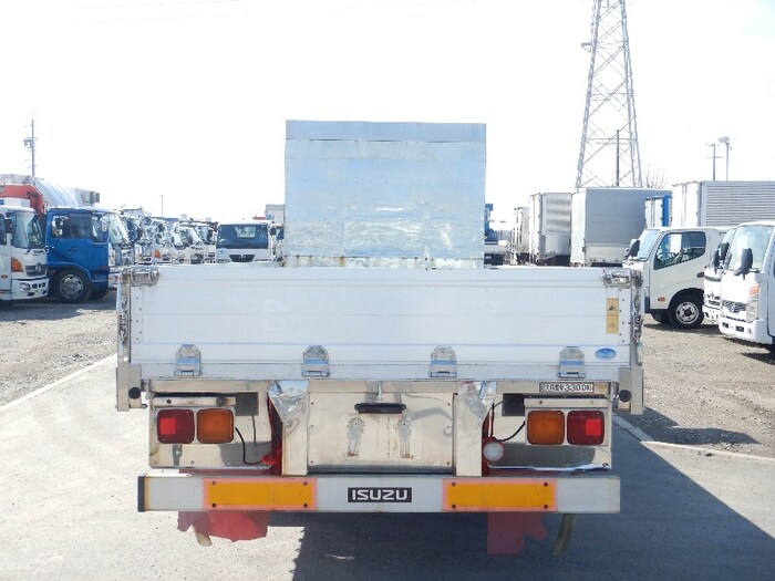 いすゞ フォワード 中型 平ボディ アルミブロック ベッド|トラック 背面・荷台画像 トラック市掲載