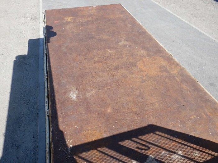 三菱 ファイター 中型 クレーン付 床鉄板 3段 画像6