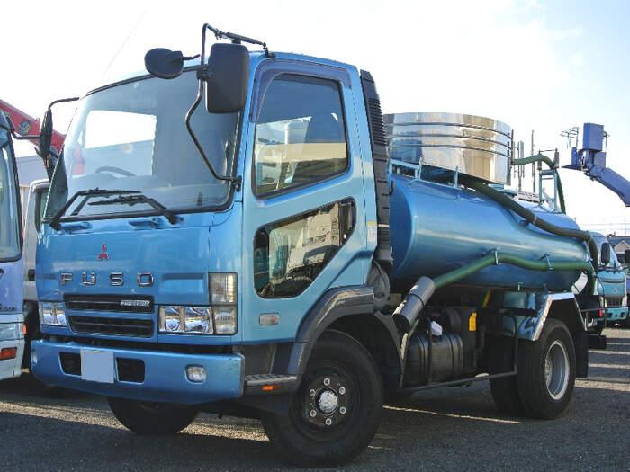 三菱 ファイター 中型 タンク車 バキューム KK-FK71HC 画像1