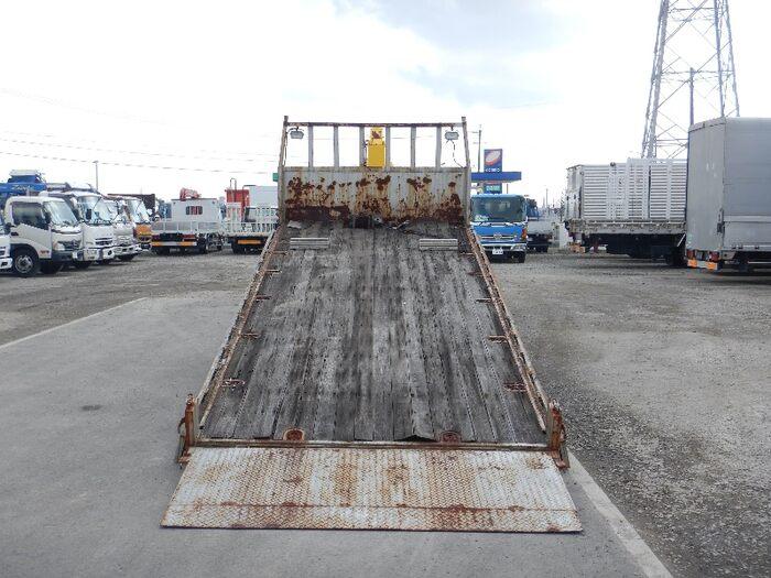 日野 レンジャー 中型 車輌重機運搬 4段クレーン ラジコン 型式 KK-GD1JMDA トラック 画像 栗山自動車掲載