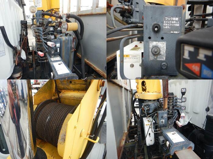 日野 レンジャー 中型 車輌重機運搬 4段クレーン ラジコン 積載 4t トラック 画像 ステアリンク掲載