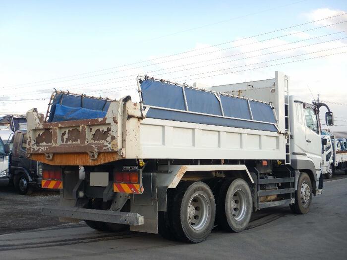 三菱 スーパーグレート 大型 ダンプ コボレーン ベッド|トラック 右後画像 リトラス掲載